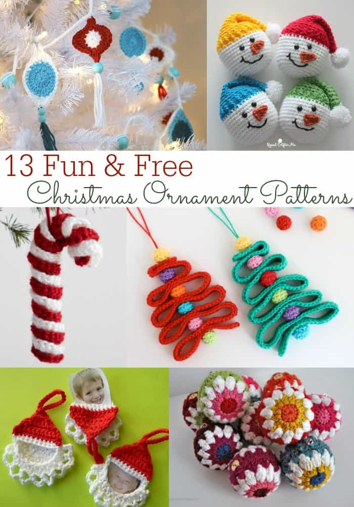 13 Fun & Free Christmas Ornament Crochet Patterns