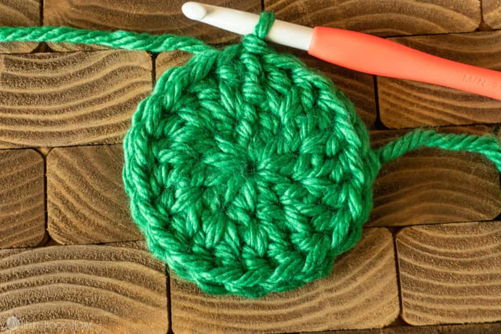 crocheting in between stitches