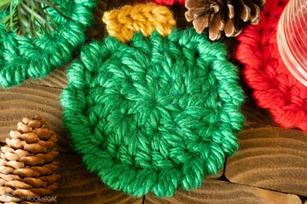 How to crochet Christmas Ornament Coasters