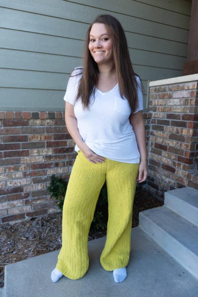 comfy crochet pants