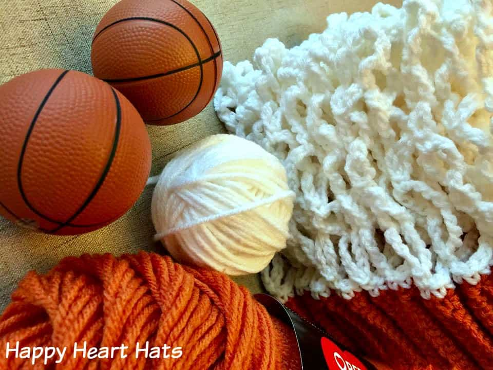 crocheting a basketball net hat