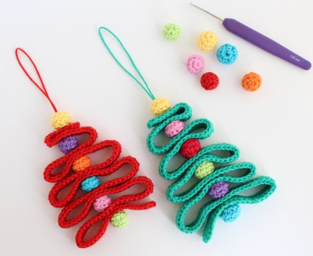 how to crochet a Christmas tree