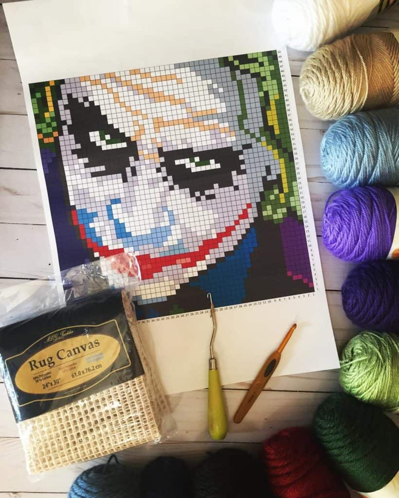 Joker graph for crocheting