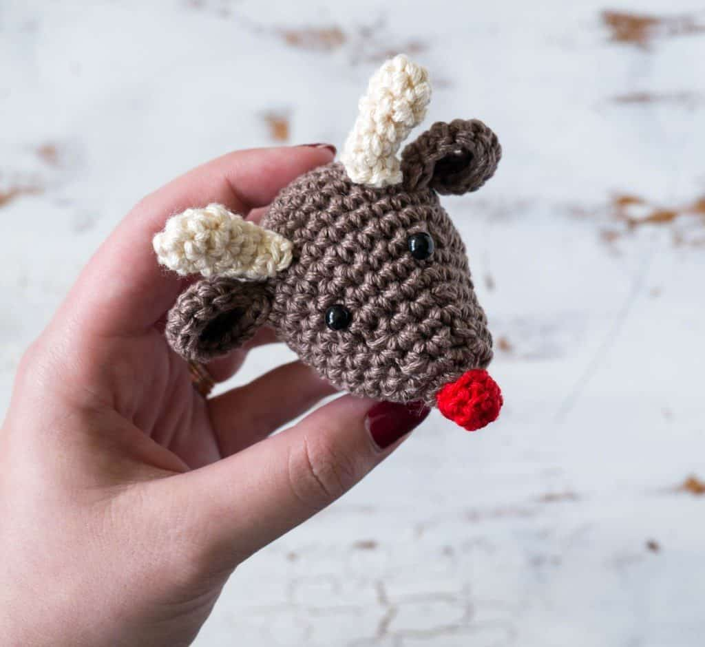 Reindeer Christmas Ornament Crochet Pattern