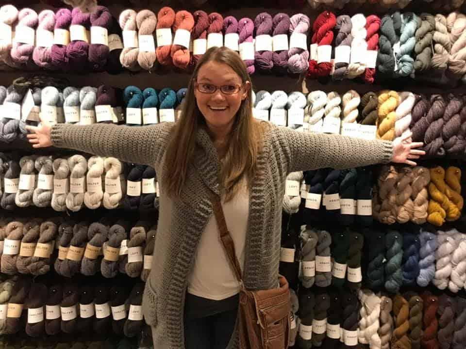 Fancy yarn store in Amsterdam