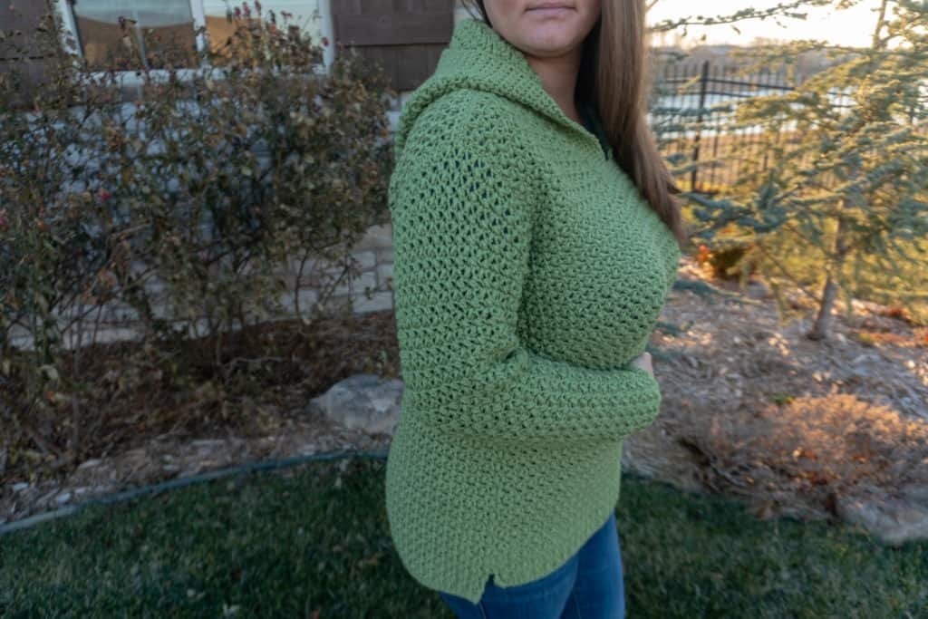 Mini bean hoodie crochet pattern