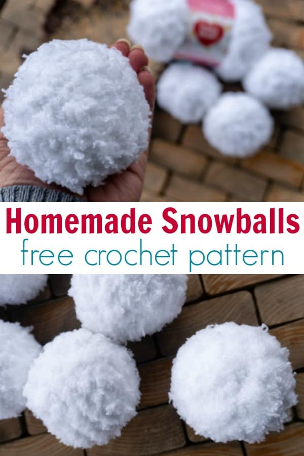 How to make crocheted snowballs