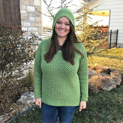 Don't Worry, Bean Happy Hoodie Crochet Pattern