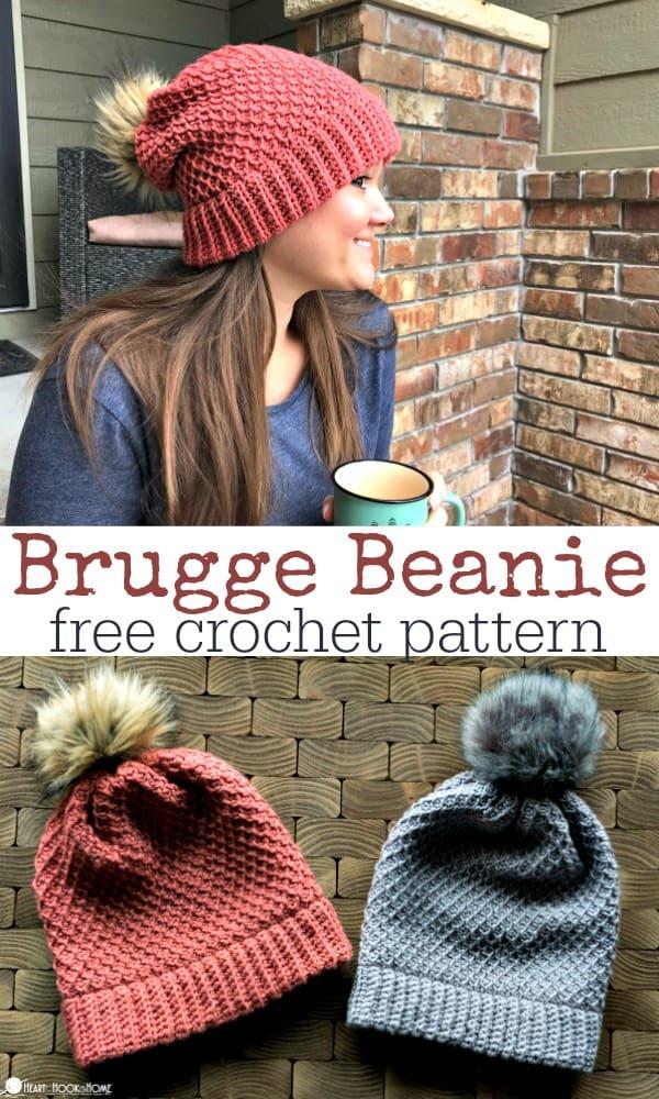 Back In Brugge Slouchy Beanie Free Crochet Pattern
