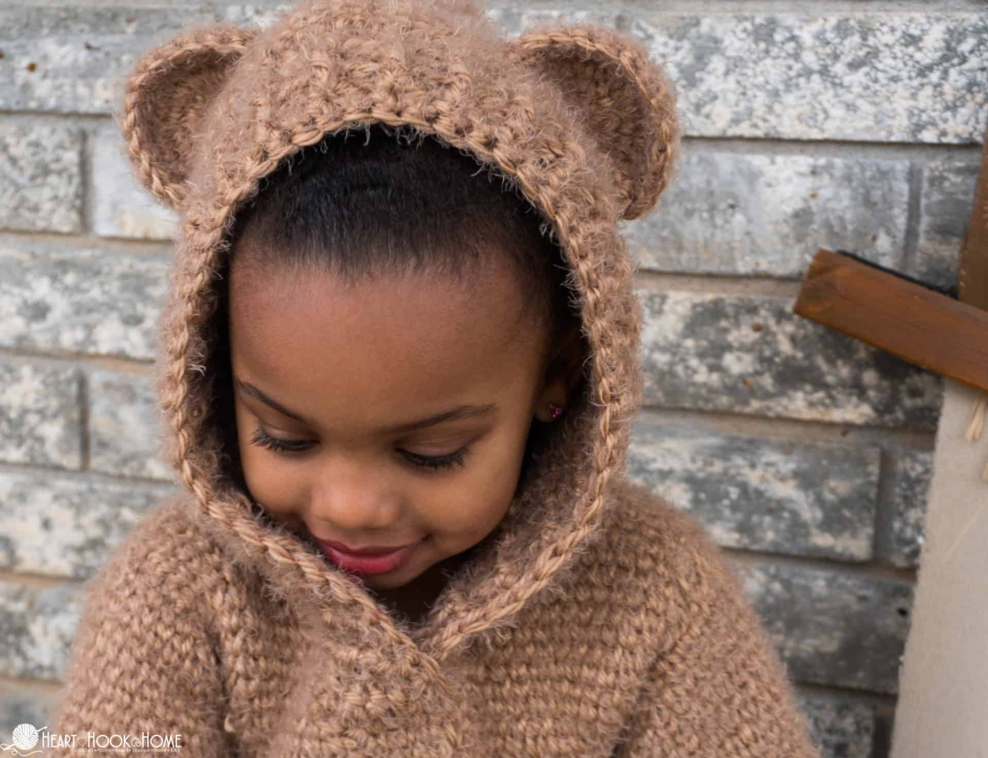 The most adorable child size hoodie free crochet pattern