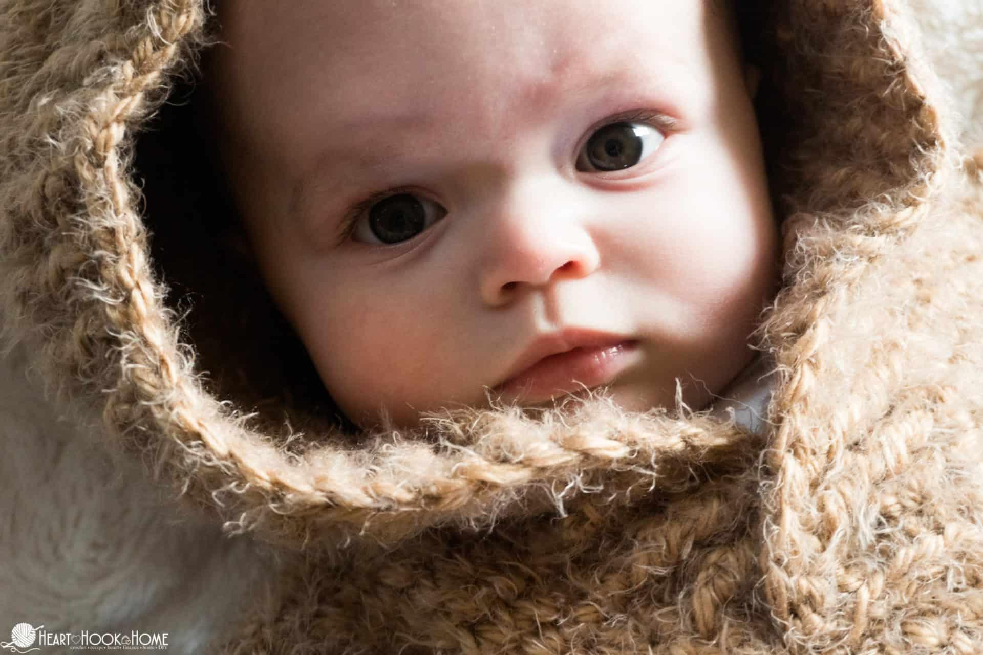 Hibernation Hoodie 6/9 month hoodie crochet pattern