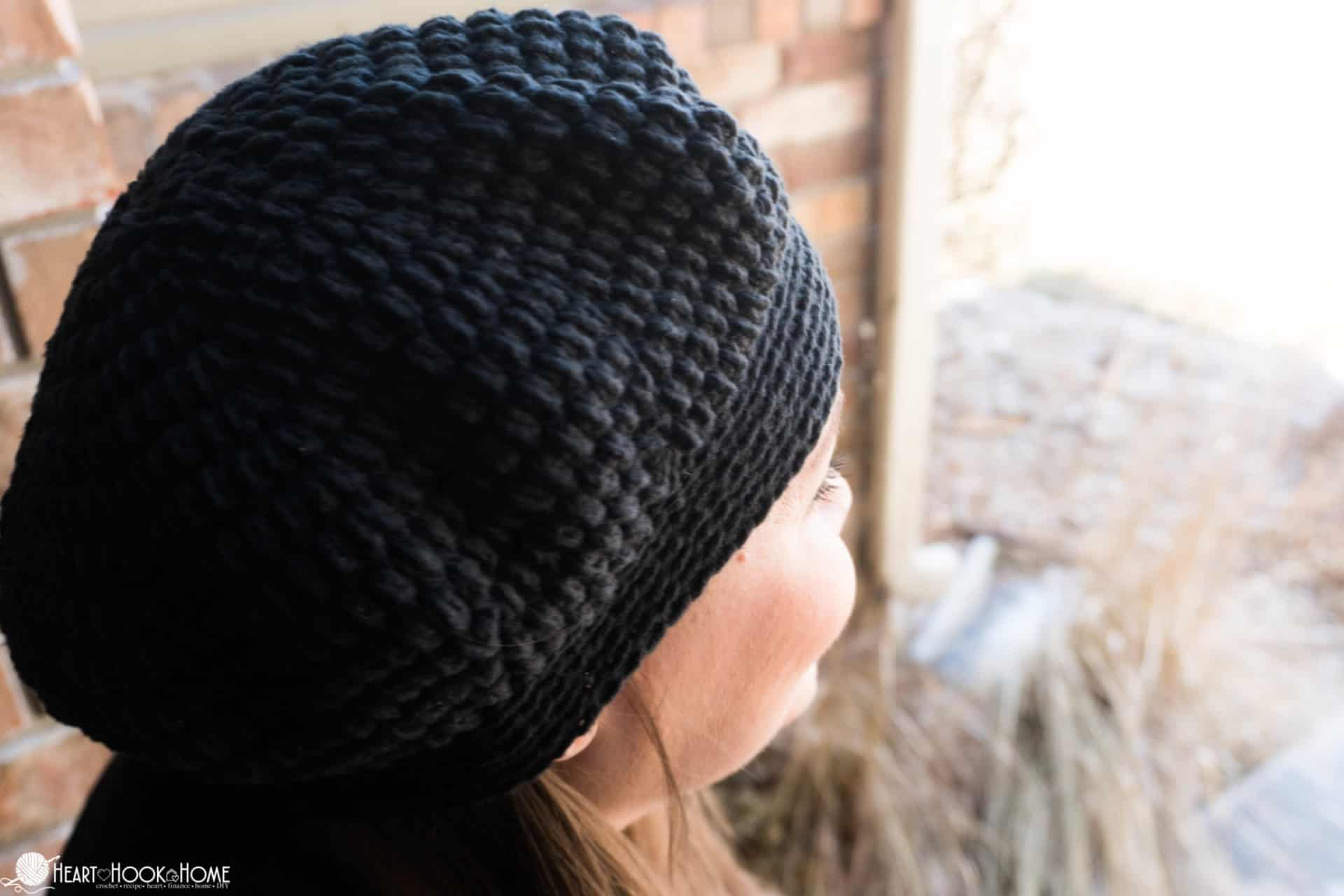 Lazy Day Beret Chemo Cap Free Crochet Pattern