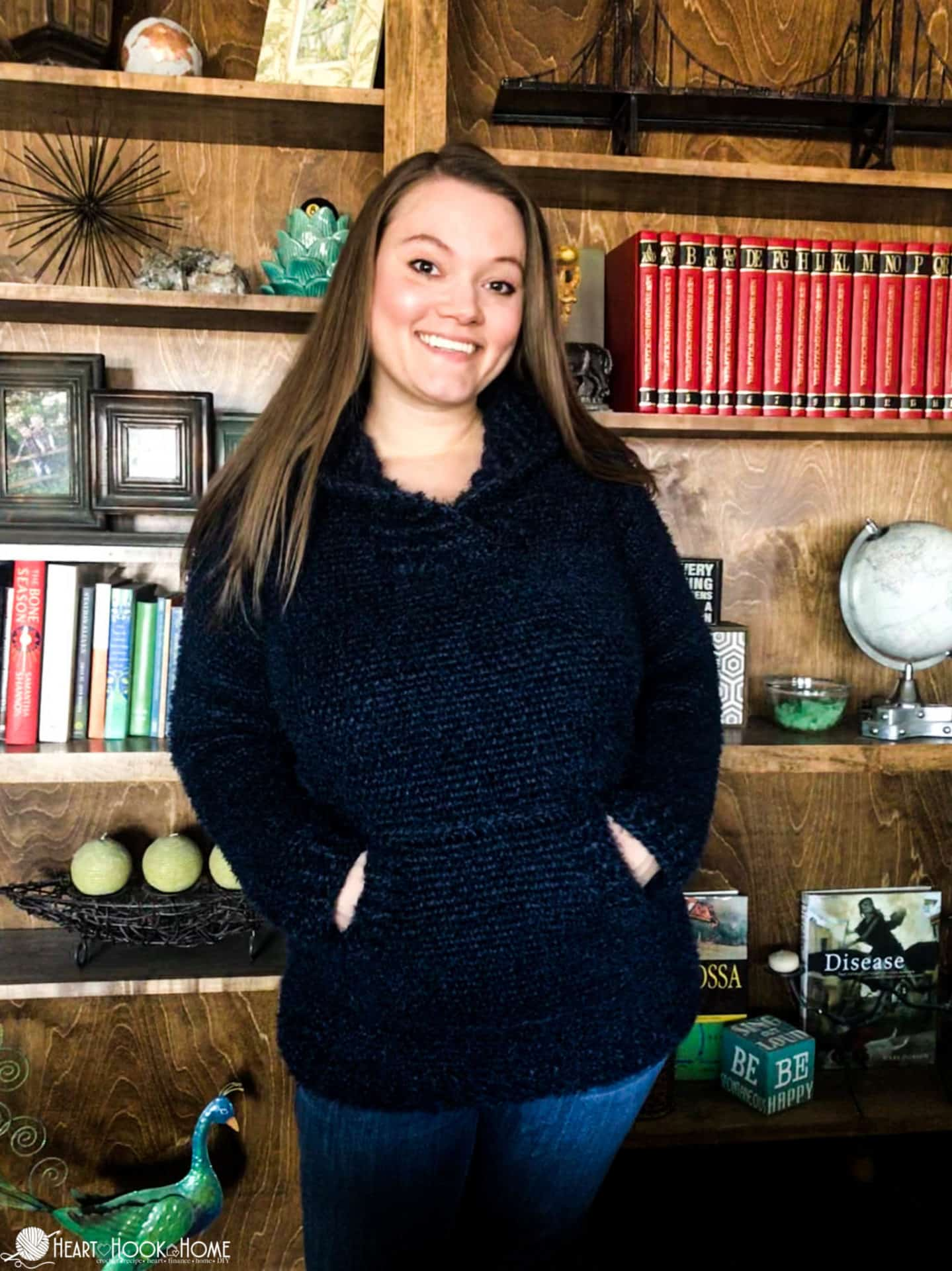 Waistcoat stitch hoodie pattern