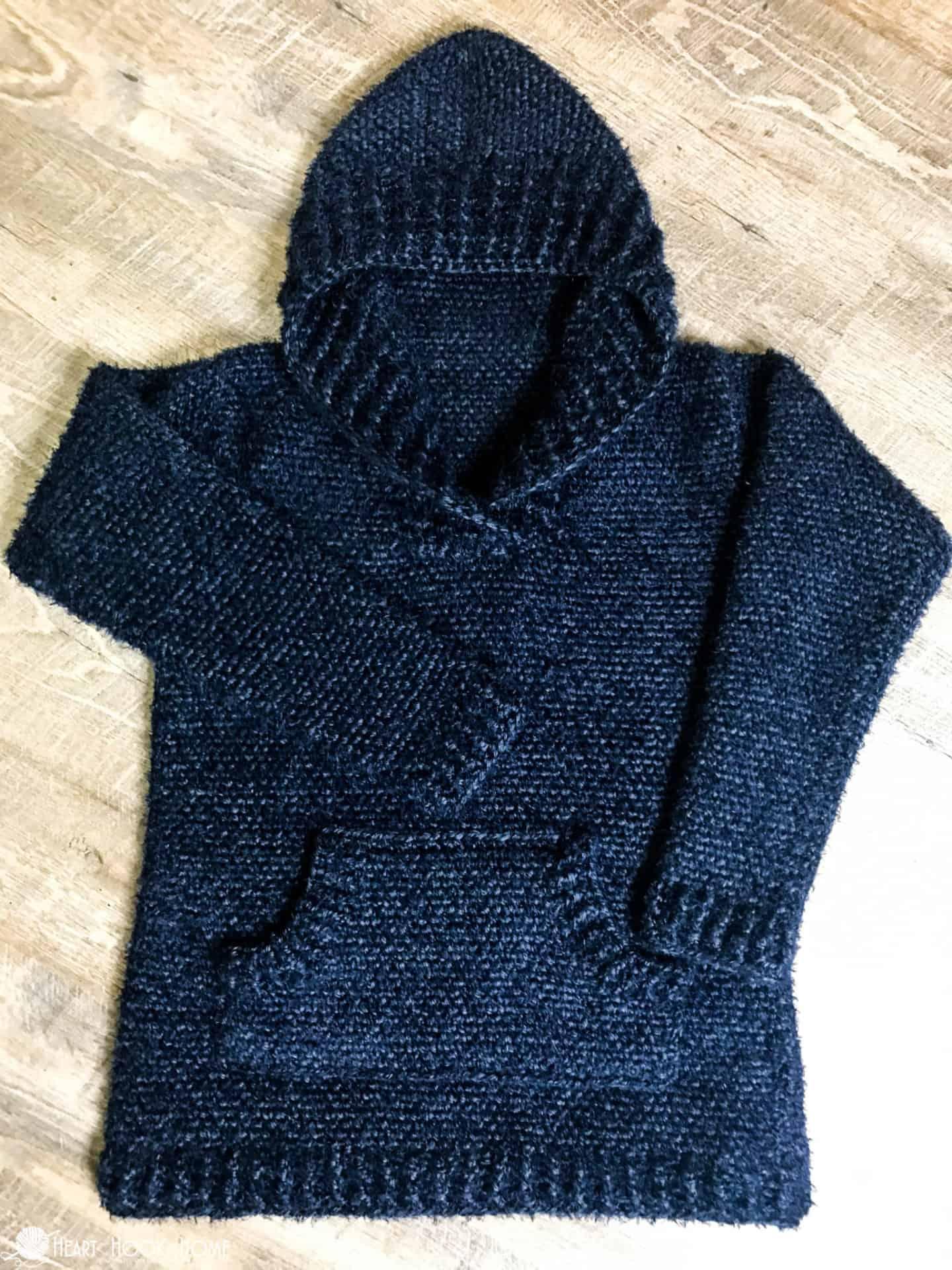 Hibernation Hoodie Crochet Pattern S 3xl