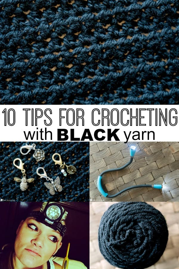 10 tips for crocheting with black yarn