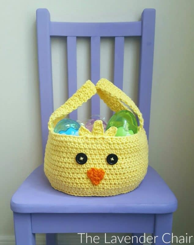 Chick easter basket crochet pattern
