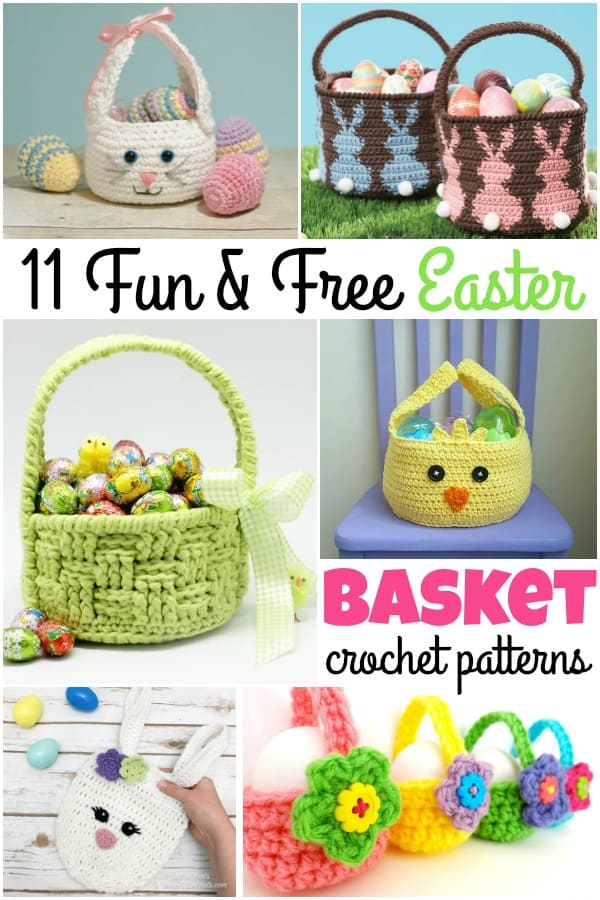 11 Fun & Free Easter Basket Crochet Patterns