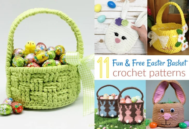 20 Free Crochet Basket Patterns - How to Crochet 20 Basket Tutorials | 500x730