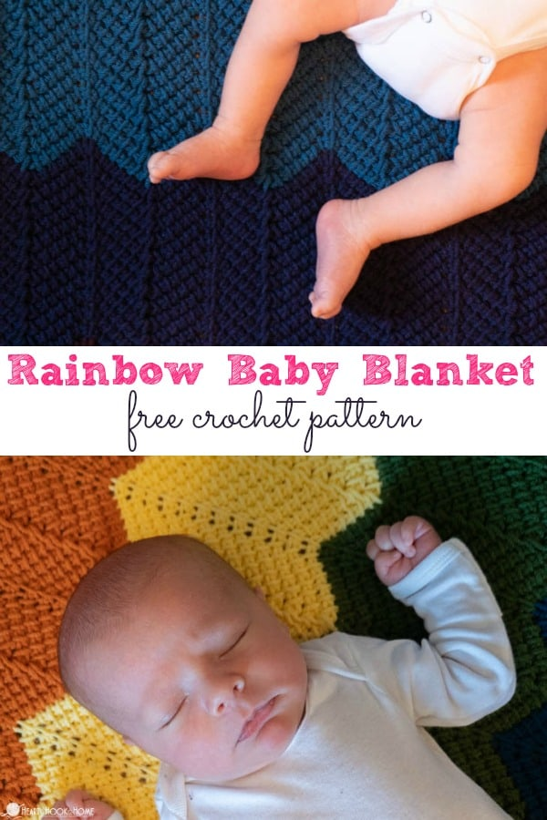 Rinbow Baby Blanket free pattern