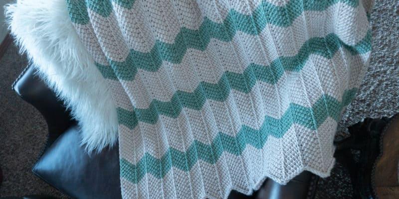 Tunisian Chevron Baby Blanket Pattern