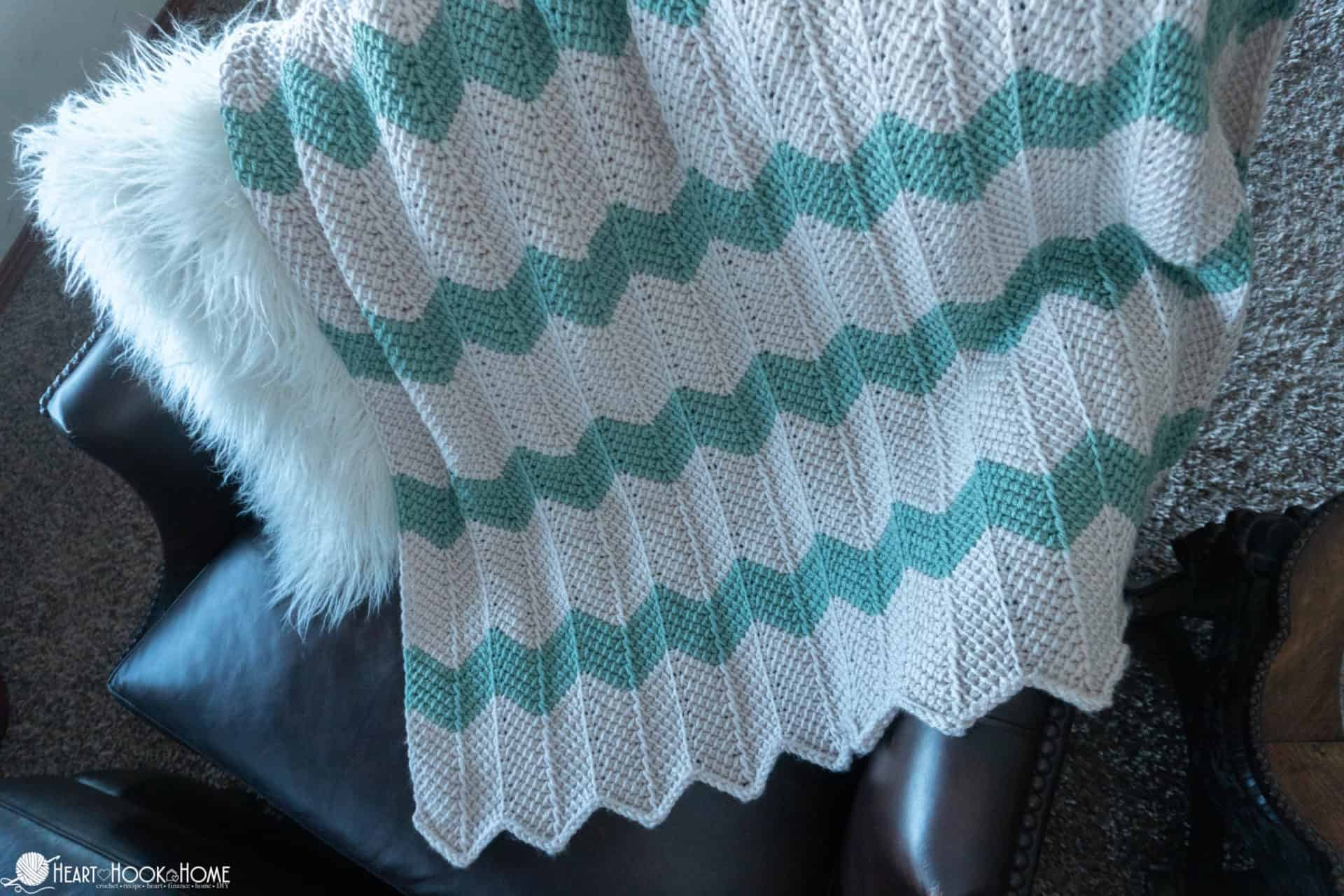 Tunisian Chevron Baby Blanket Pattern