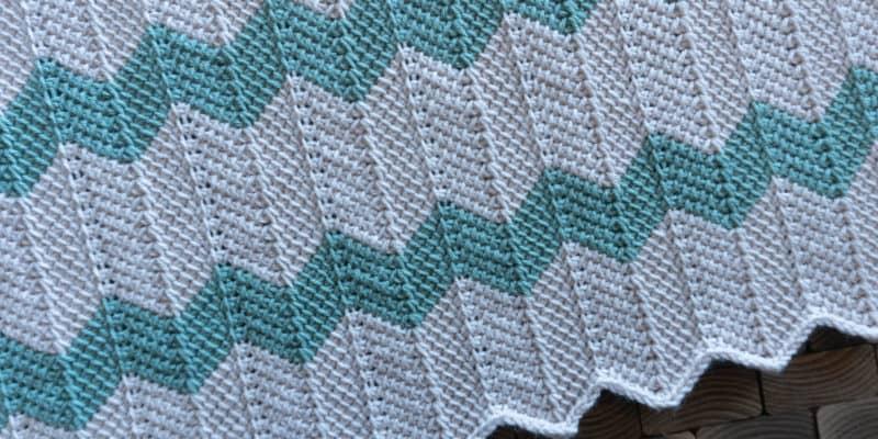 How to Tunisian Chevron Crochet
