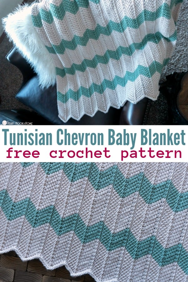 Tunisian Chevron Baby Blanket