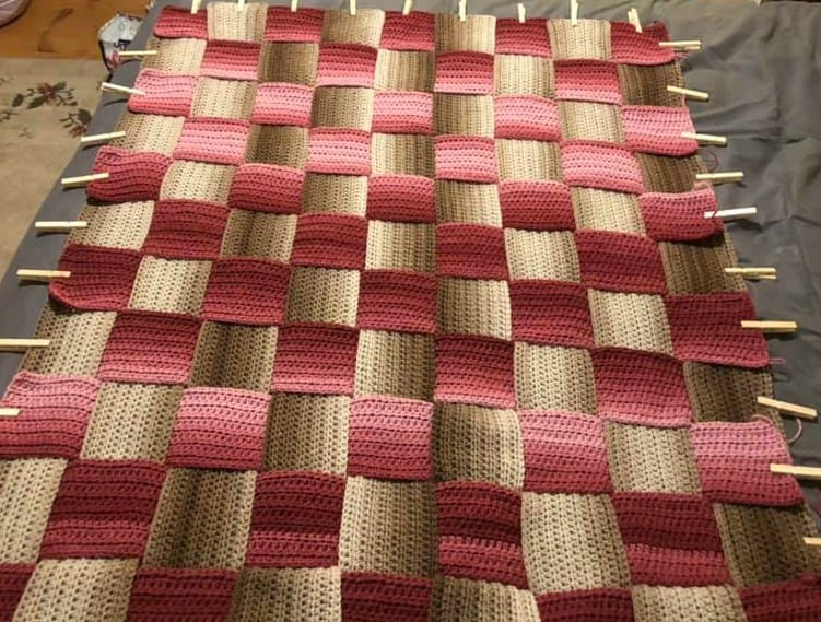 Woven In Time Crochet Blanket