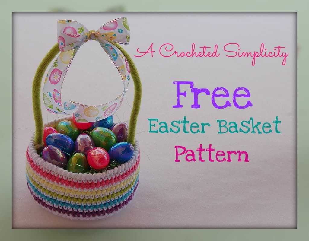 free easter basket crochet pattern