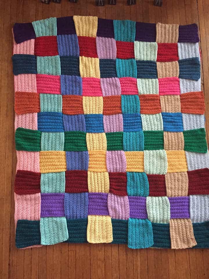 Woven In Time Crochet Blanket