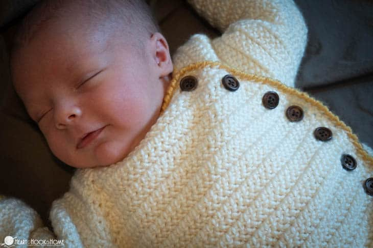 Newborn sleep sack crochet pattern