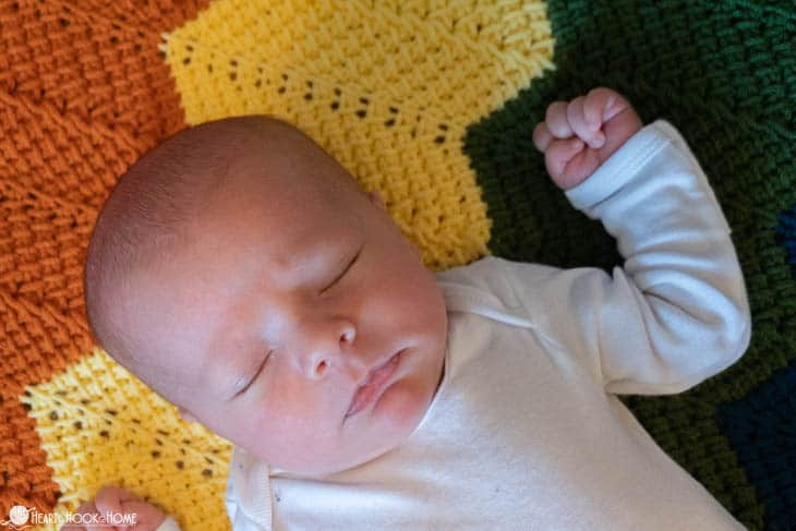 Rainbow Baby Blanket free crochet pattern