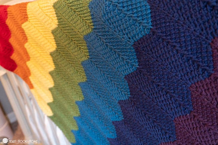 Rainbow baby blanket pattern