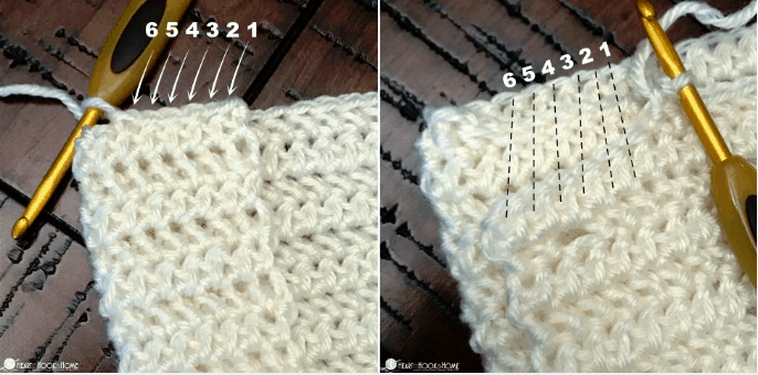 where to slip stitch in drawstring sleep sack pattern