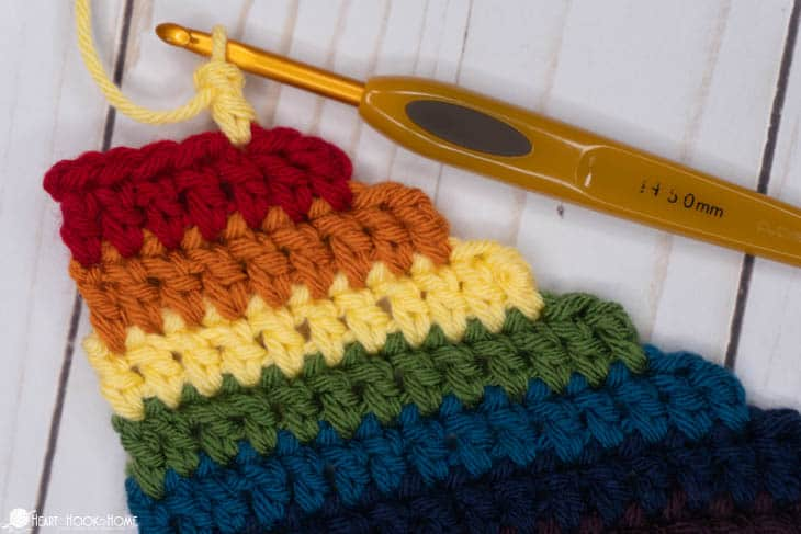 Standing double crochet tutorial