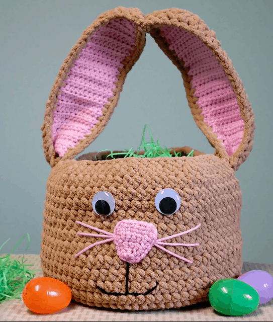 Easter bunny Easter basket crochet pattern