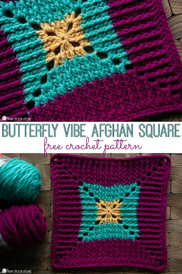 Butterfly Vibe Afghan Square