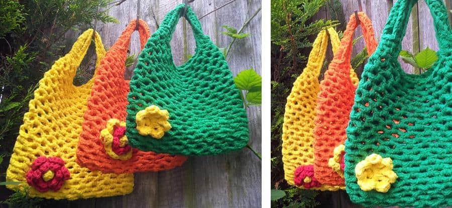 market bag with t-shirt yarn