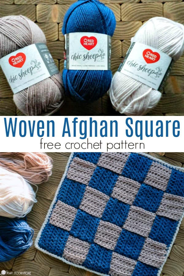 Woven Afghan Square Crochet pattern