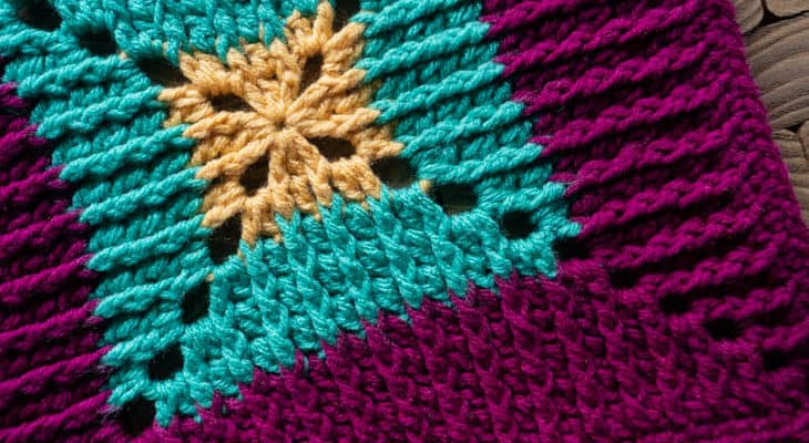 Butterfly Vibe Afghan Square free pattern
