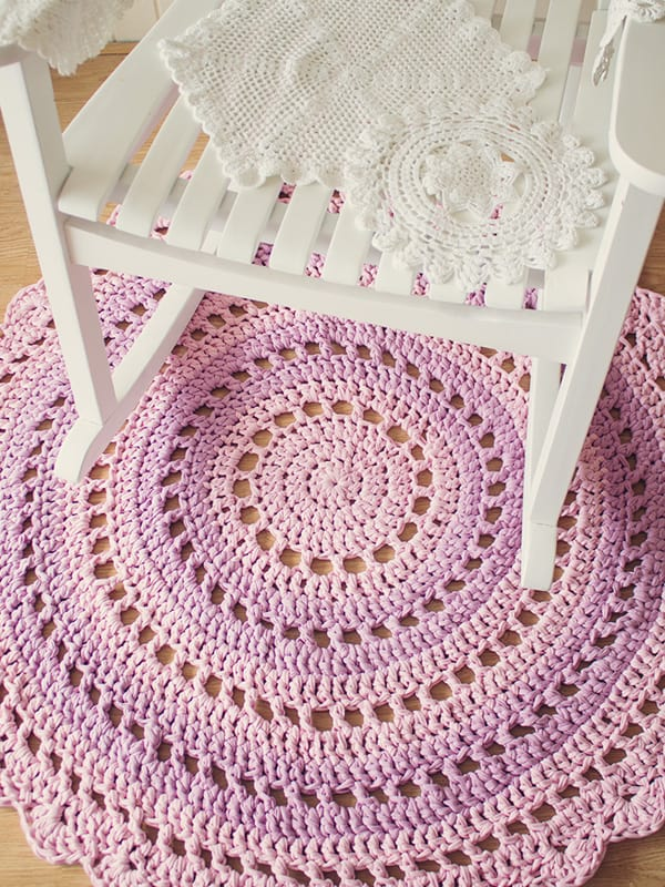 how to crochet a rug with t-shirt yarn
