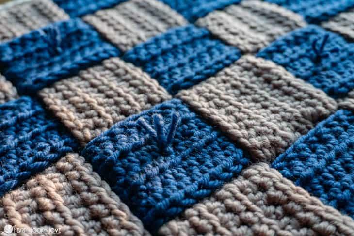 Wedding Blanket Crochet-Along Woven Afghan Square