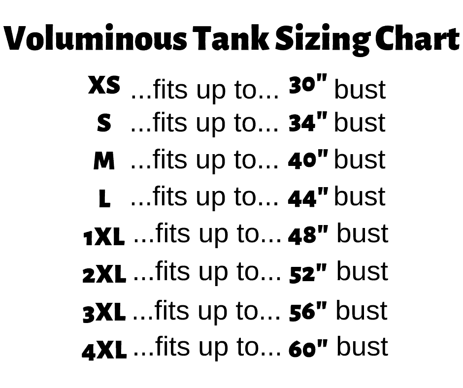 Voluminous Tank Sizing Chart