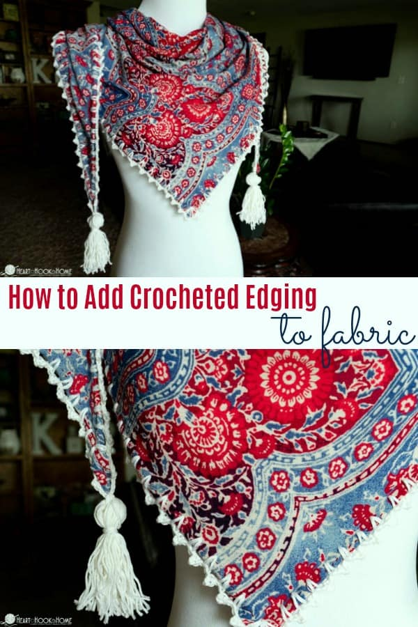 How to add crocheted edging to fabric