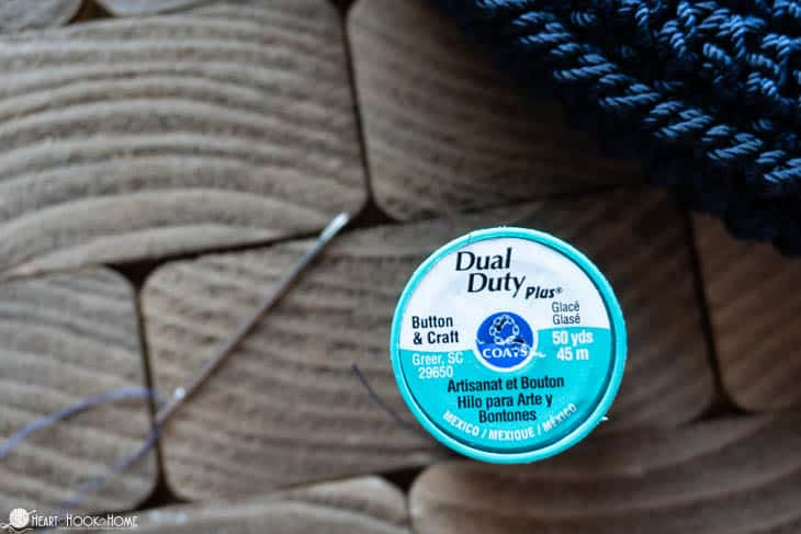 dual duty thread for heavy duty sewing