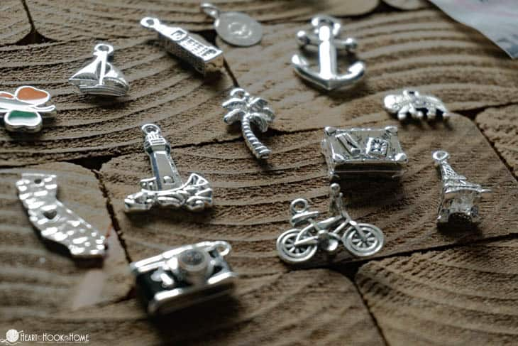 Charms to be used for stitch markers