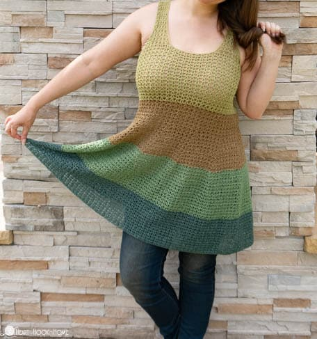 Voluminous Tank Top Crochet Pattern