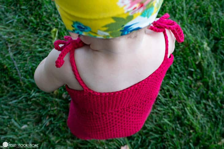 How to crochet an infant romper