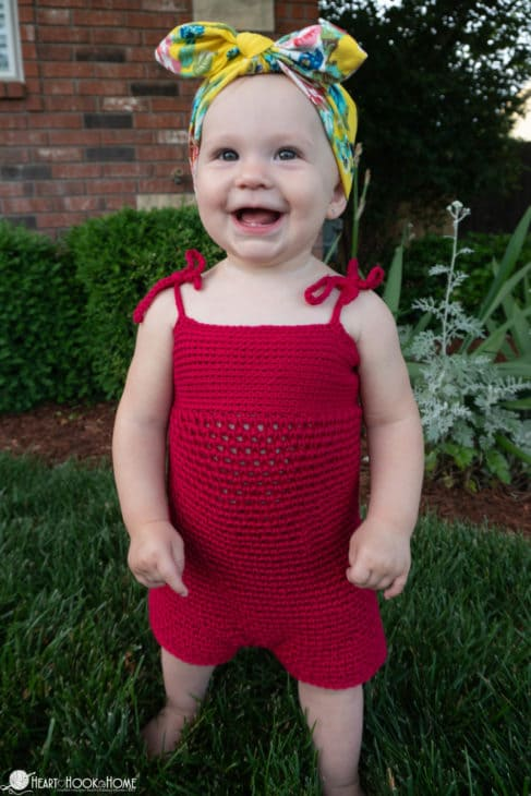 easy infant romper crochet pattern