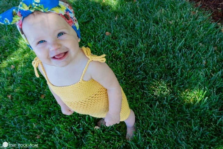 Adorable free romper crochet pattern for infants